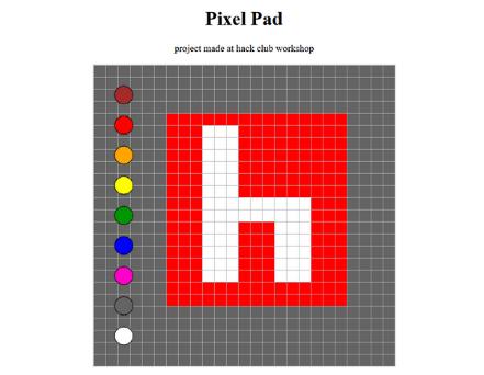 Pixel Hack Club Logo